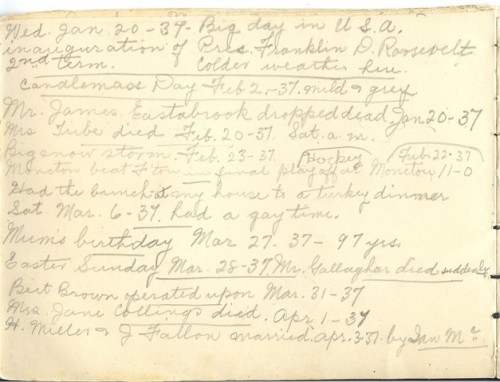 Jennie Pike's Date Diary (1932-1940) - Page 12