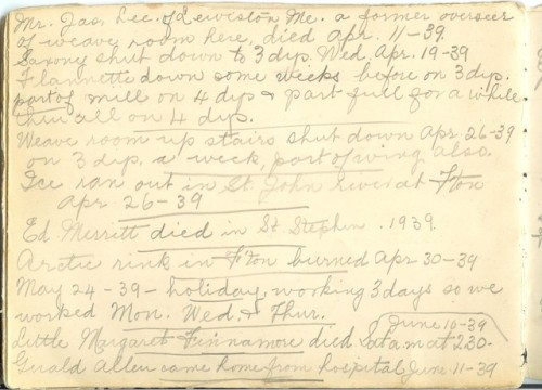 Jennie Pike's Date Diary (1932-1940) - Page 22