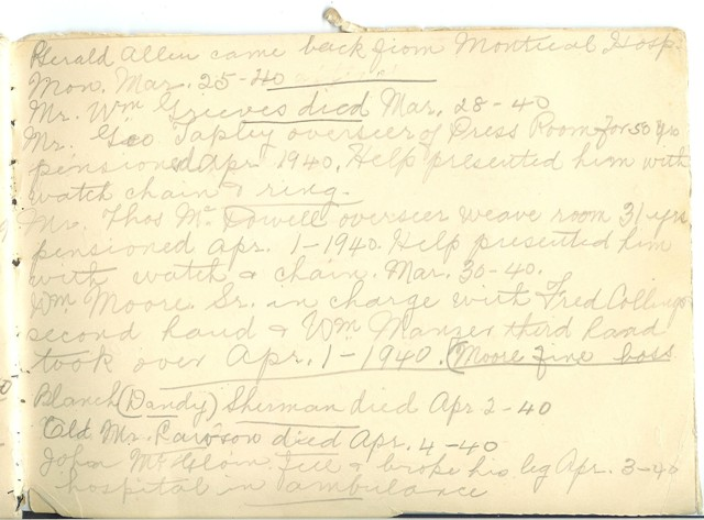 Jennie Pike's Date Diary (1932-1940) - Page 27