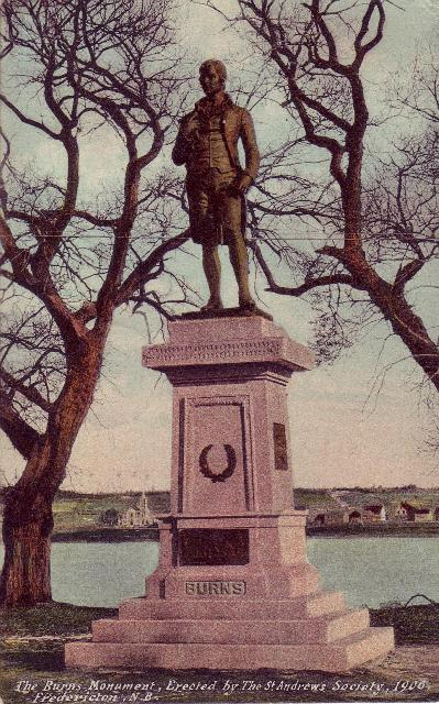 Robert Burns Monument Postcard (Fredericton, New Brunswick)