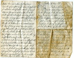World War I German Letter written in German World War I letter written in Sütterlin (2)