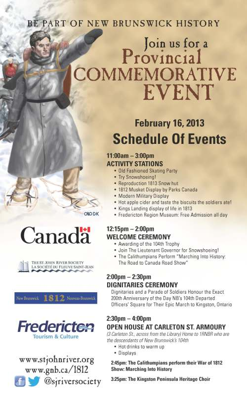 Fredericton Schedule of Events Bilingual, February 16th